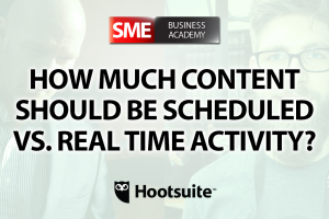 How much content should be scheduled vs. real time activity? - Interview with Paul Sackmann (Hootsuite)